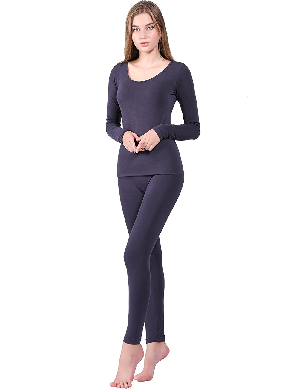 9b1acb7614468d Jeans WiWi Women's Bamboo Thermal Underwear Sets Long Johns Base Layer Top  and Bottom S-XL