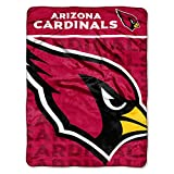 The Northwest Company Officially Licensed NFL Arizona Cardinals Livin Large Micro Raschel Throw Blanket, 46″ x 60″