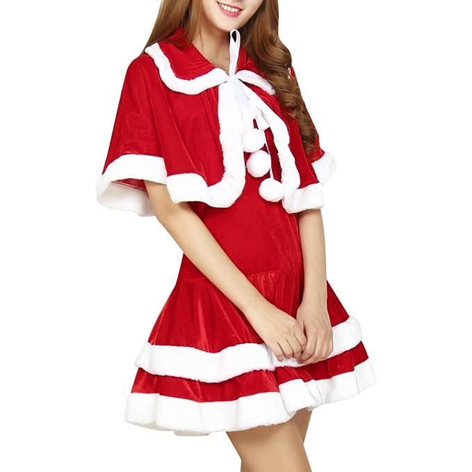 CLOOM Navidad Conjunto De Falda para Mujer Sexy Elegant Vestido ...