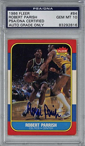 Robert Parrish Signed Autographed 1986 Fleer Basketball Card 10 Auto - PSA/DNA Certified - Unsigned Basketball Cards ()