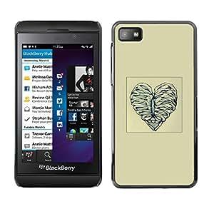 Cubierta protectora del caso de Shell Plástico || Blackberry Z10 || Deshuesar corazón del amor @XPTECH