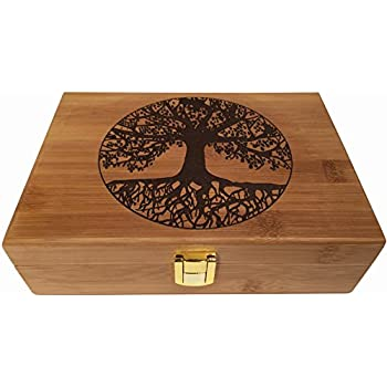 Blake Lake Tree Of Life Wood Stash Box