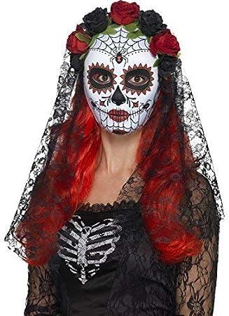 TUTU SENORITA DAY OF THE DEAD Halloween Ladies FANCY DRESS  COSTUME  MASK