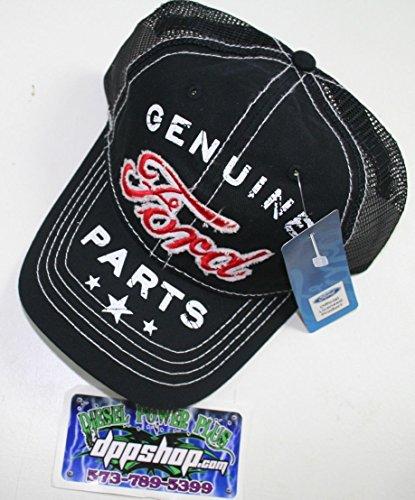 genuine ford parts baseball cap hat mesh back black red 3d logo new adjustable (Parts Baseball)
