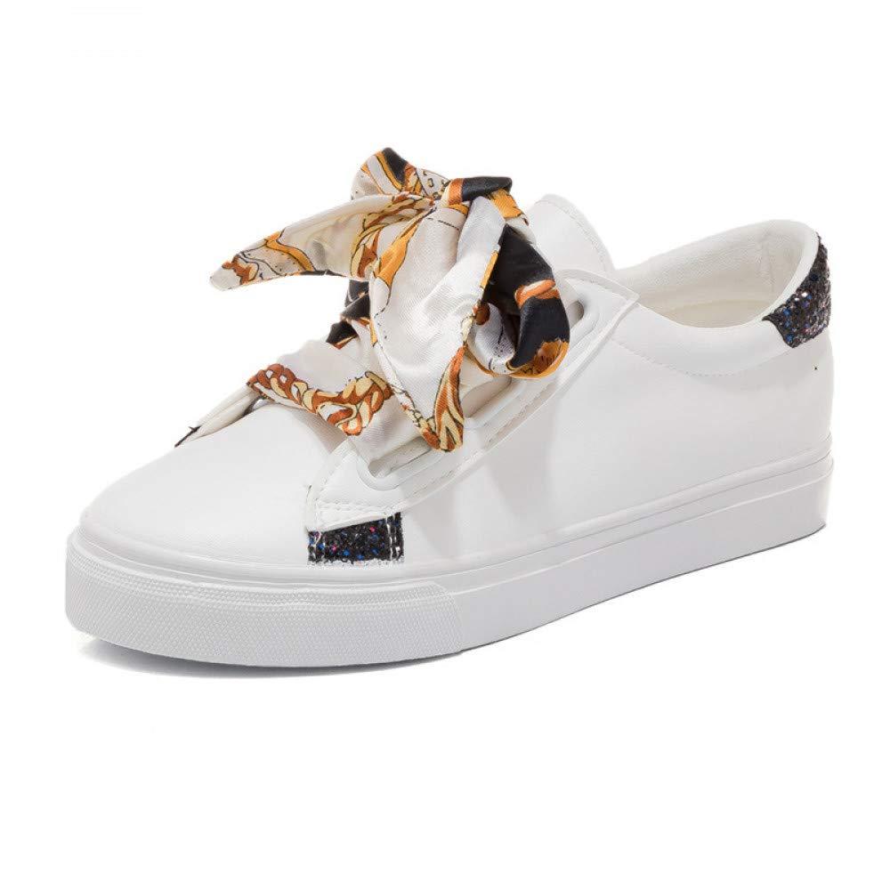 GUNAINDMX Arbeiten Sie zufällige Frauen vulkanisieren Schuhe schnüren Sich Oben Segeltuch-Schuh-weibliche Freizeit-Flache Schuh-Turnschuhe