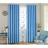 "Blackout Darkening Thermal Insulated Window Drapes 42Inch Wide Curtains Panels, Grommet Ring Top, 1 Panel (42""Wx95""L, Baby Blue)"