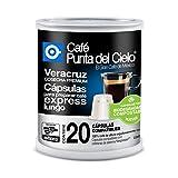 Café Punta del Cielo Capsulas Express Region Veracruz Cosecha Premium Lata, 100 gr, Paquete de 20 Piezas