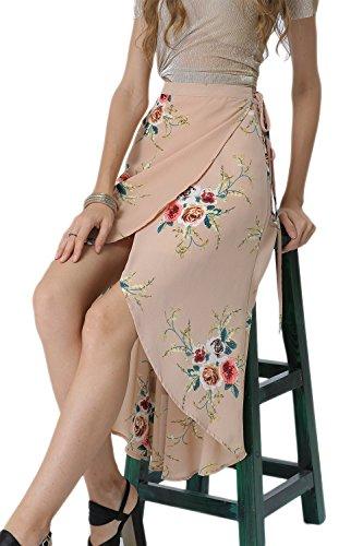 Dividir Una Linea De Vestido Largo Verano De Mujer Pink