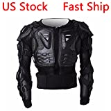 full body armor protector - LEAGUE&CO Motorcycle Full Body Armor Protector Pro Street Motocross ATV Guard Shirt Jacket with Back Protection Black (Medium)