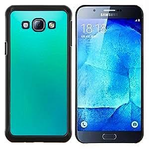LECELL--Funda protectora / Cubierta / Piel For Samsung Galaxy A8 A8000 -- Papel pintado azul del cielo Luz Relajante pintura --