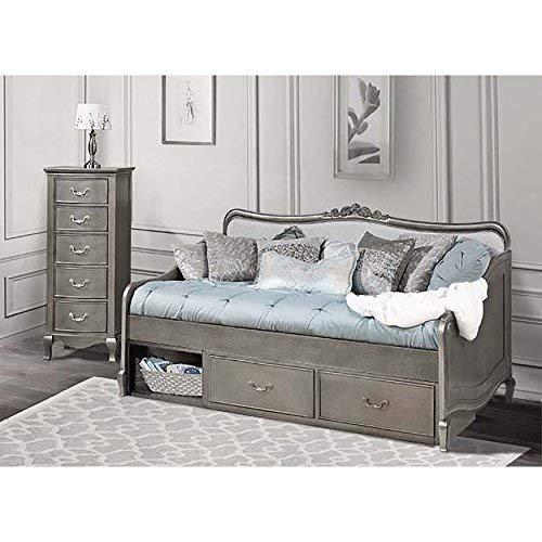 Hillsdale Furniture 30040NS Kensington Elizabeth Daybed with Storage, Antique Silver