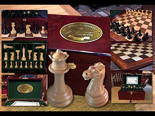 COMPLETE. Luxury 1849 Staunton/Jaques Chess Set. The best ever. Premium Ebony. (Classic Case Stanton)