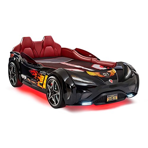 (Cilek Race Car Bed GTS Racing Vehicle Childrens Bed Frame, Twin,)