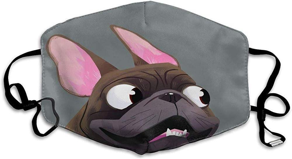 """Maske mit """"Bulldogge-mit-luftigen-Ohren""""-Motiv"""