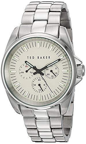 Ted Baker Men's 10025264 Vintage Analog Display Japanese Quartz Silver Watch