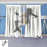 Bedroom Blackout Curtains Set - Sexy woman dances on chair Window Treatments Home Decoration Curtains, 72W x 96L Inch