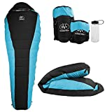 Outdoor Vitals Atlas 15°F Lightweight Down Sleeping Bag with Compression Sack & (Blue, Regular) Review