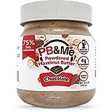 PB&Me Powdered Hazelnut Spread, Low Calorie, High Protein, Chocolate, 184 Grams
