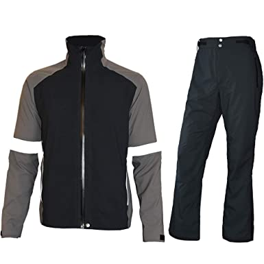cbb921b2f fit space Men's Waterproof Golf Jacket and Pants for All Sports Rain Suit  (Gray Full
