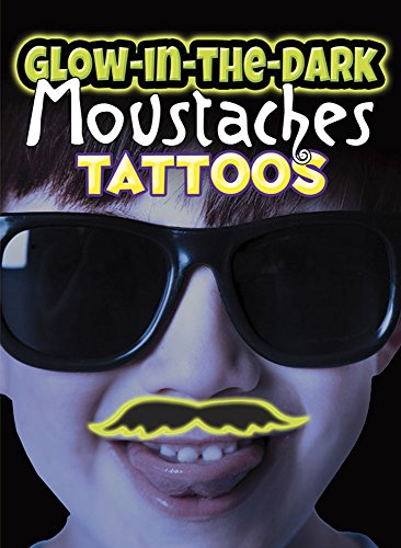 [Glow-in-the-Dark Tattoos Moustaches] (Costumes With Moustaches)