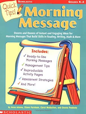 Quick tips morning message annmarie adams et al 9780439376679 morning message m4hsunfo