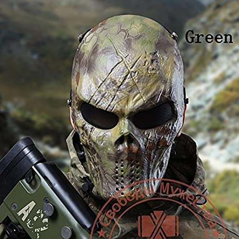 Airsoft Paintball Camouflage Python Skull Mask Protective Mask CS Full Face Protective Mask