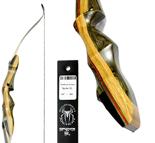 Spyder XL 64 inch Takedown Recurve Bow - DESIGNED for THOSE WITH DRAW LENGTH LONGER THAT 28