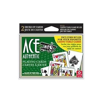 ACE Juego de cartas, cubierta doble + juego de casino ...