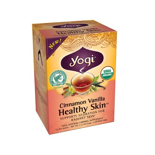 Bulk Saver Pack 36x16 BAG: Yogi Teas Cinnamon Vanilla Healthy Skin Tea - 16 Tea Bags by YOGI TEAS