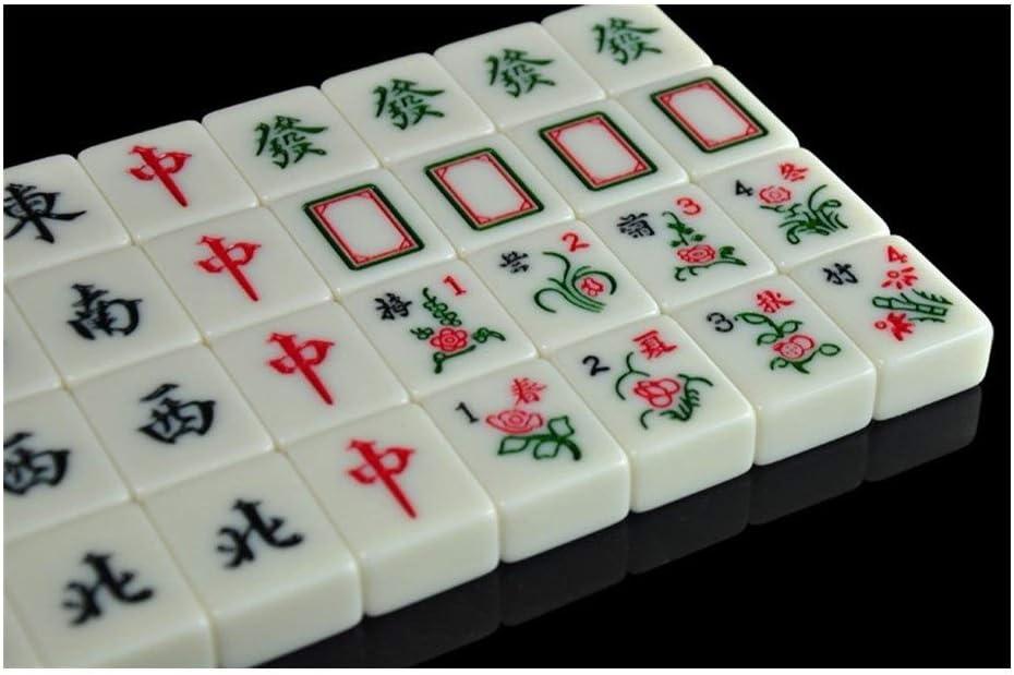 MLX China Mahjong, Mahjong Tradicional Chino, Conjunto de Mahjong, Mano casera frotando Mahjong, 4.0 * 3.1 * 2.1CM, Beige: Amazon.es: Hogar
