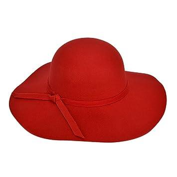 Amazon.com  Wool Felt Bowler Hats for Women teens Girls ace6d29a535