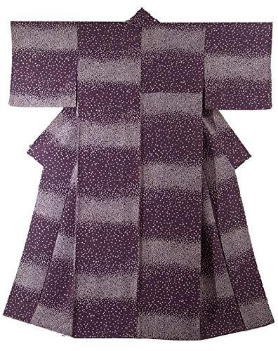 リサイクル 着物 正絹 袷 小紋 可愛らしい 小花模様 裄66cm 身丈159cm