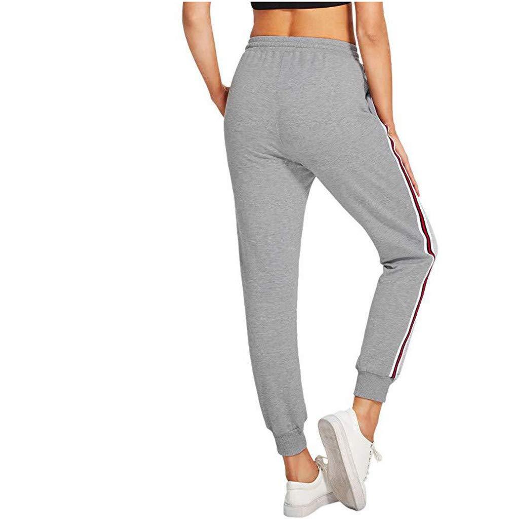 STRIR Mujeres Har é n Pantalones El á stico Yoga Jogging Deportes ... 9ba5d9d0179