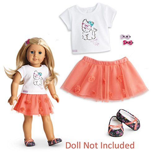 American Girl - Coconut Cutie Outfit for Dolls - Truly Me 2015 (Cutie Girl Shoes)