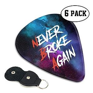Never Broke Again Merch Youngboy Plektren Premium Plektren mittlerer und schwerer Stärke (6 Stück) 0,46 mm