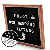 #1: Letter board Felt Letter board Wooden letter board 10x10 inches with non-dropping board letters Metal Letter board set with stand bag magnets hook Letter board for kids Black