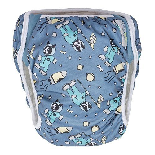 GroVia Reusable Waterproof Swim Diaper for Baby, Infant, and Toddler (Size 1: 10-19 lbs, Astro) by GroVia
