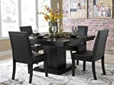Cheap Cicero 5 Piece Dining Table Set by Home Elegance in Black