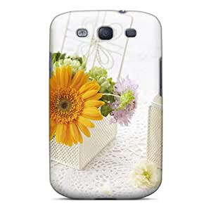 New Premium Flip Case Cover Decorating_with_flowers_ Skin Case For Galaxy S3