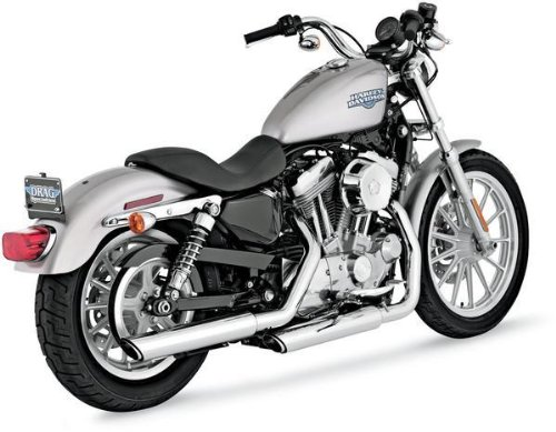 Vance & Hines 3in Round Twin Slash Slip-On Mufflers - Chrome , Color: Chrome 16839