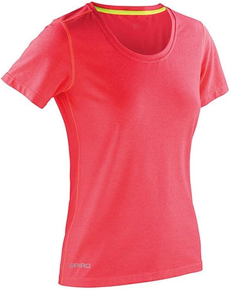 Spiro Fitness Shiny Marl Camiseta, Mujer