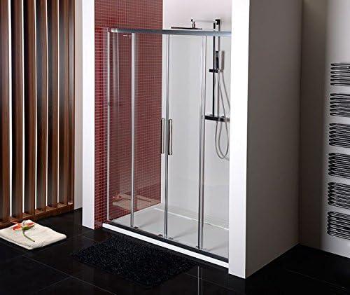 Puerta Corredera técnicos 160 cm, puerta de cristal 160 x 200 cm (BxH), Puerta corredera ducha 160 cm, 4 piezas), 6 mm, ESG transparente con antidrop de beschich hacer: Amazon.es: Bricolaje y herramientas