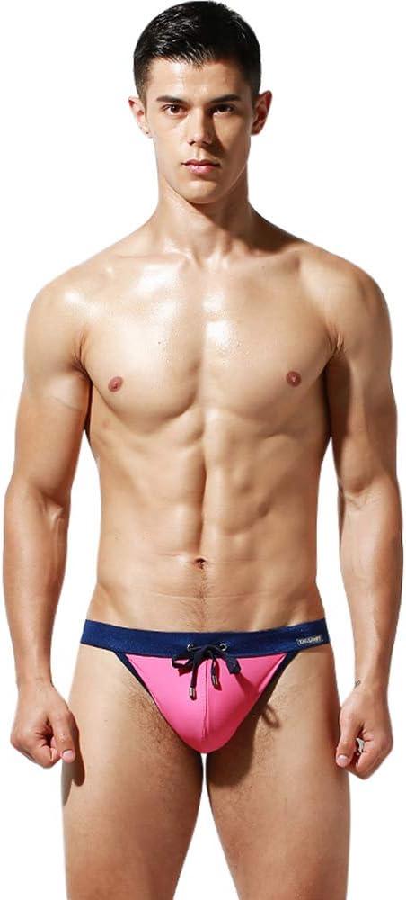 Asiatica M-XL, Italiano S-L Lantra Besa Uomo Nuoto Surfing Underwear Slip Swimmwear Bikini Pantaloni con Coulisse in Nylon e Spandex Tipo 2