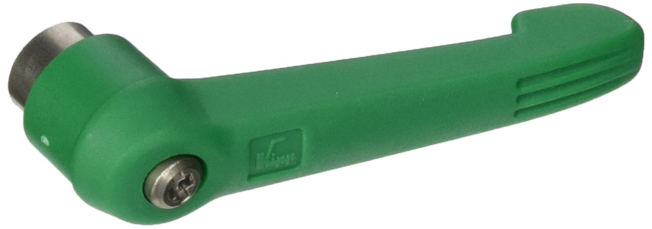 Kipp 06601-2A386 Fiberglass Reinforced Plastic//Steel Adjustable Handle with 5//16-18 Internal Thread,Novo/·Grip Style Inch Signal Green Color Size 2 Stainless Steel Components