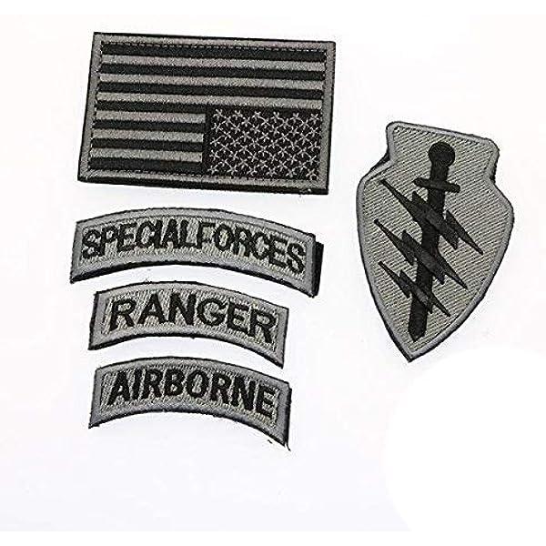 Cobra Tactical Solutions Militar Special Ranger Airborne Bandera US Parche Bordado Táctico Moral Militar Cinta Adherente de Airsoft Cosplay Para Ropa de Mochila Táctica: Amazon.es: Hogar