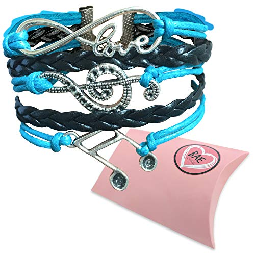 (BAE Icons Love Music Bracelet Musical Jewelry | Infinity Treble Clef Bracelet | Features Infinity Charm and Music Notes | Music Gift for Piano Teacher or Music Teacher Comes in a Gift Pack.)