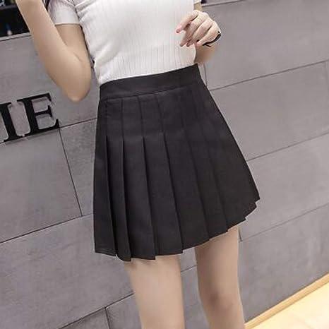 HEHEAB Falda,Black XS-XXL Mujer Moda Verano Cintura Alta Falda ...