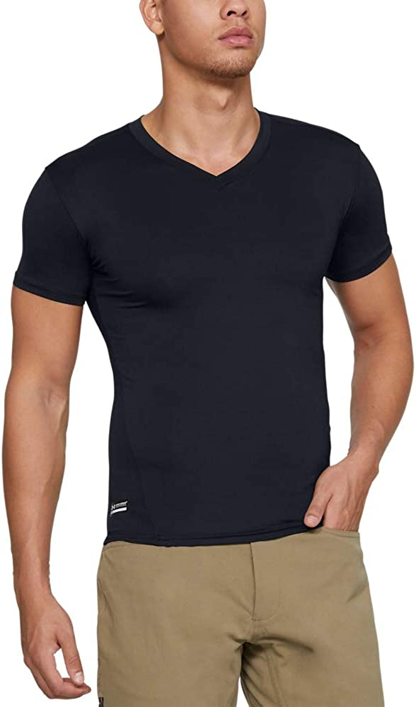 Under Armour Men's HeatGear Tactical V-Neck Compression Short Sleeve T-Shirt