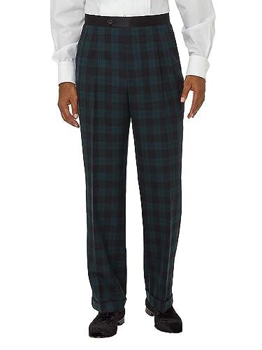 Men's Vintage Pants, Trousers, Jeans, Overalls Paul Fredrick Mens Super 100s Tuxedo Pant $99.98 AT vintagedancer.com