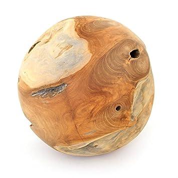 Teakholz Kugel 30 cm Dekokugel Holzkugel Kugel Gartenkugel